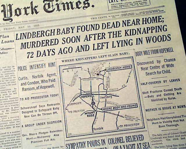 Image result for body of the kidnap lindbergh baby is found