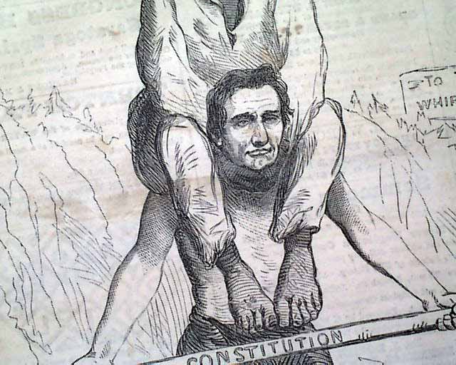 Notable Abraham Lincoln Political Cartoon With Racial Overtones