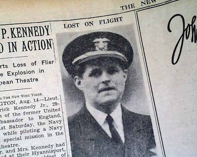 Image result for JOE KENNEDY KILLED WW2