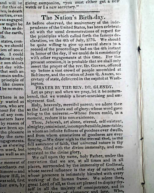 John Quincy Adams' Notable Fourth Of July Speech
