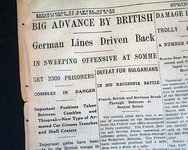 a report on the battle of somme Free battle of somme papers, essays,  the government has asked me to investigate and find out about this battle to know their faults and report back to them.