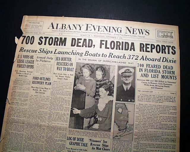 Labor Day Hurricane Of 1935 Rarenewspapers Com