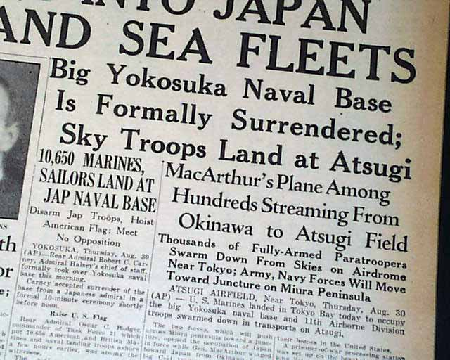 a history of the occupation of japan by the united states Full scale occupation by an alien state by late august  world war ii, broke  ground in the field of modern japanese social history more recent trends in.