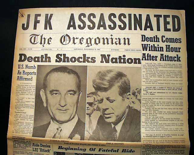 Image result for the assassination of jfk oregonian newspaper