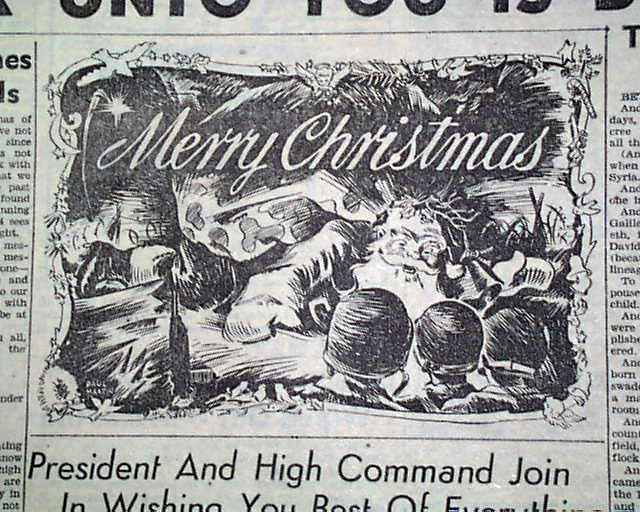Ww2 Christmas Day.Christmas Day In World War Ii Rarenewspapers Com