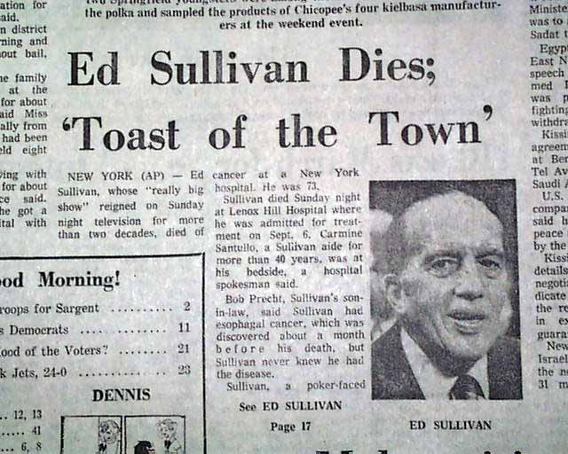 Image result for ed sullivan died