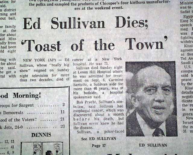 Image result for ed sullivan died