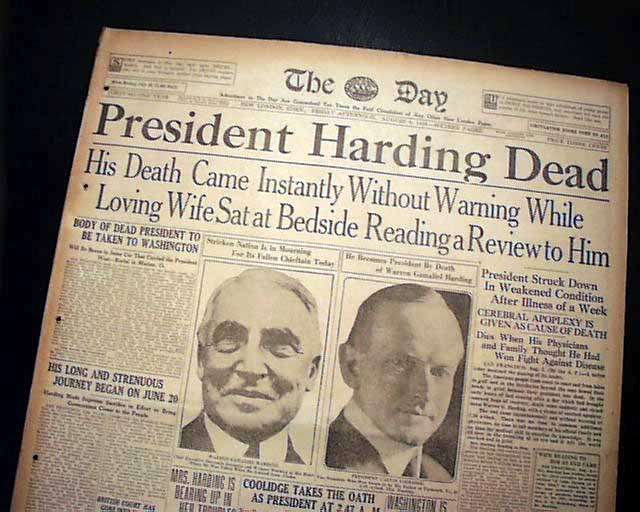 Image result for president warren harding death