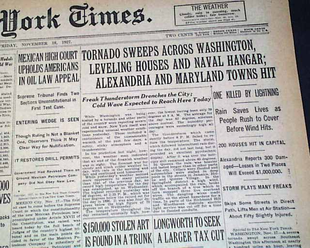 Image result for washington dc tornado 1927