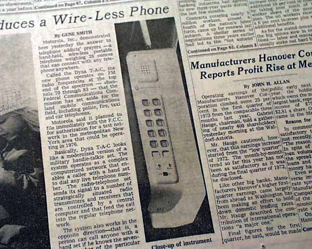 Mobile made first phone call ever The First