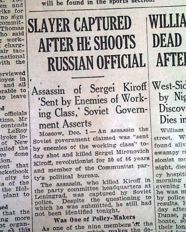 Image result for the assassination of sergei kirov