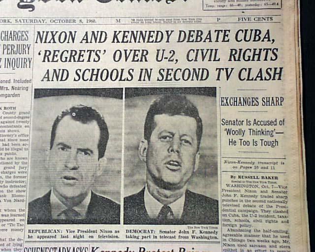 2nd Jfk Nixon Presidential Debate In 1960 Rarenewspapers