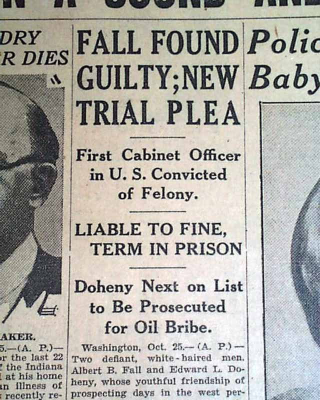 Albert Fall Guilty In Teapot Dome Scandal