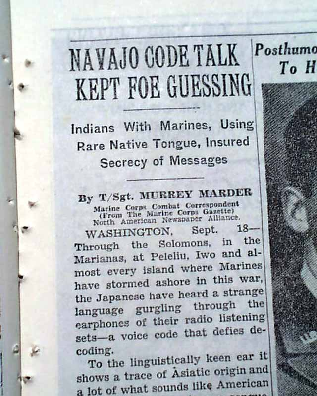 navajo code talkers thesis The code talkers helped the us win major battles slur into a ceremony at the white house meant to honor the navajo code talkers newsweek llc about us.