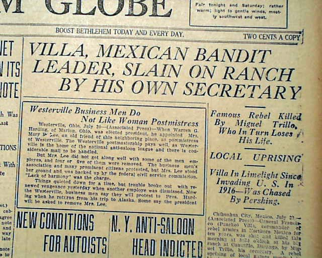 Pancho Villa From Nbsp A Safe Distance From Nbsp A Safe Distance  Pancho Villa Assassination Rarenewspapers Com Click Image To Enlarge  Narrative Essay Example For High School also High School Essay Topics  International Business Essays