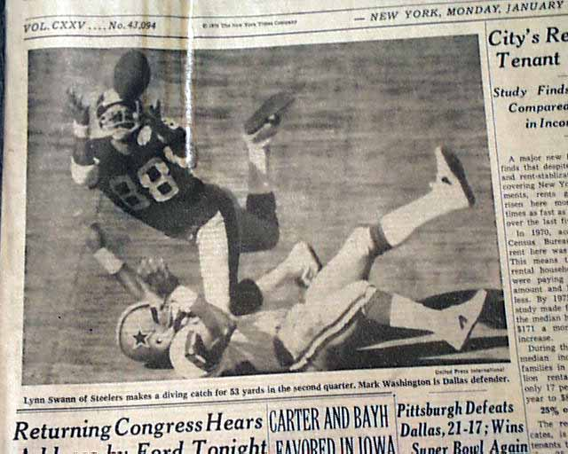 Pittsburgh Steelers win Super Bowl X    - RareNewspapers com