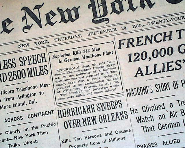 1915 New Orleans hurricane... - RareNewspapers.com