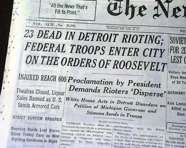 Image result for detroit race riot of 1943