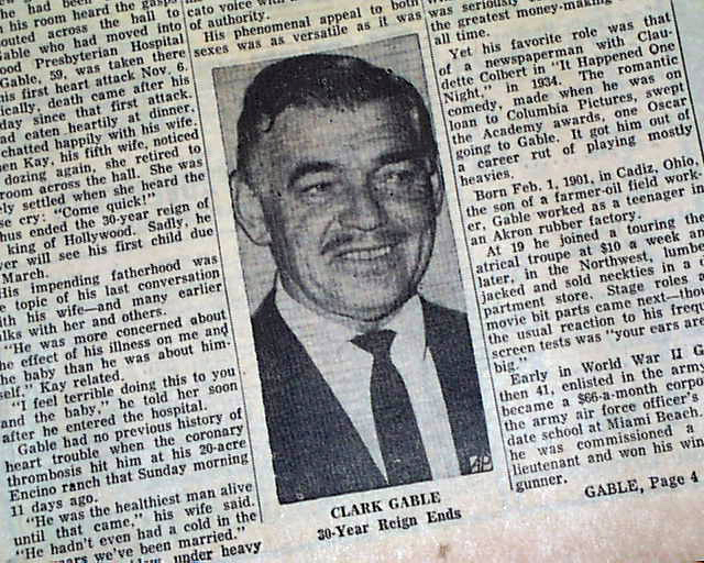 What Year Did Clark Gable Died