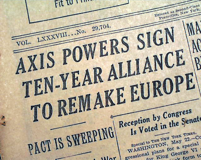 Image result for hitler and italy sign the pact of steel