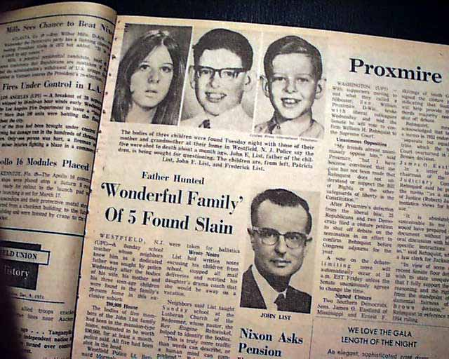 John List family murders...