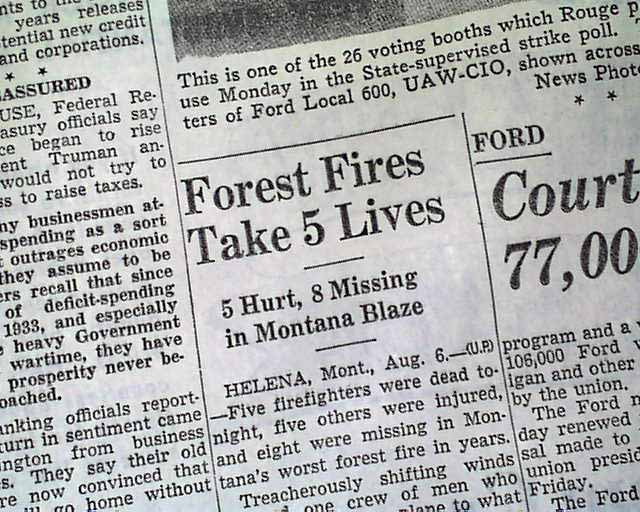mann gulch fire The leadership moment - wagner dodge & mann gulch wagner dodge was a fire fighter in montana who led a team of 15 they were responsible for putting out prairie fires.