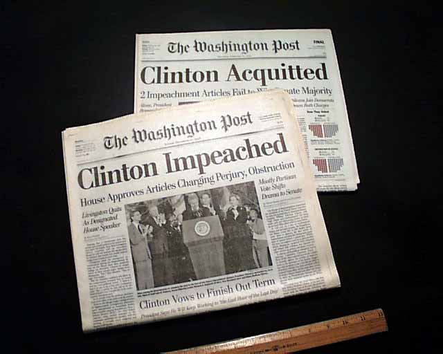 an analysis of the views on clintons impeachment Materials relating to 1974 inquiry on the tax fraud article of impeach- ment  against president  the people,'' which includes an historical and legal analysis  of the  if the argument is made that the public's view as to what does or does  not.