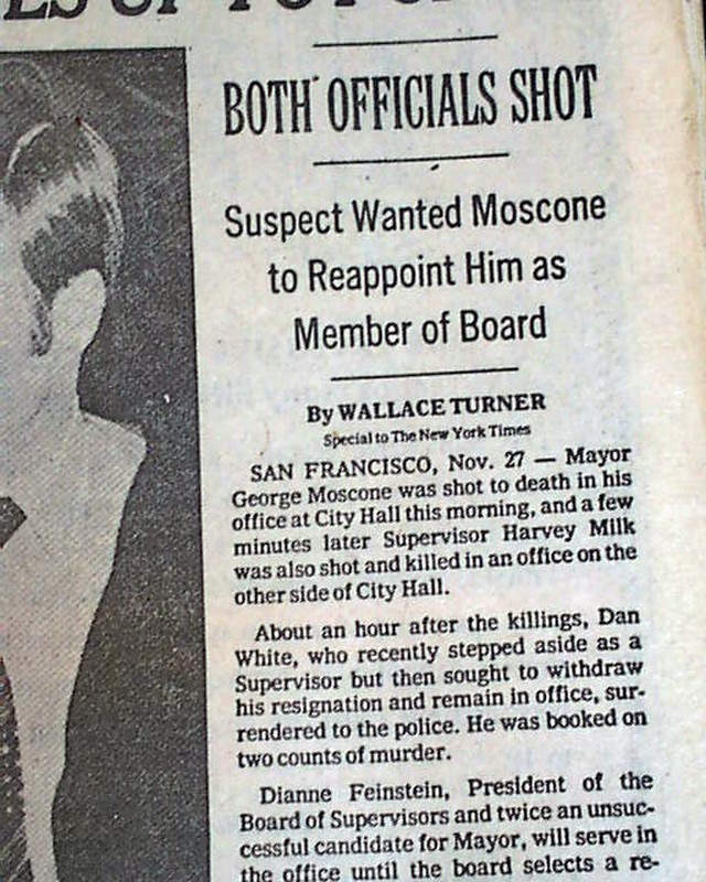 openly gay San Francisco politician Harvey Milk