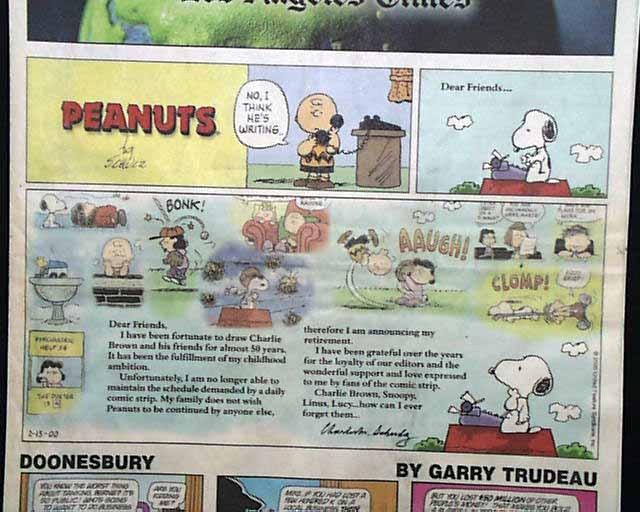Final peanuts strip