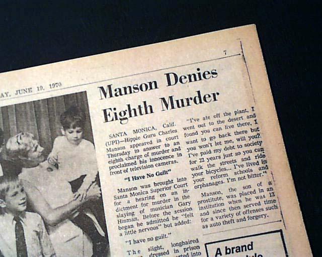 essay questions charles manson