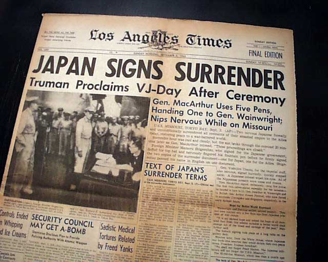 World War II officially ends.... - RareNewspapers.com