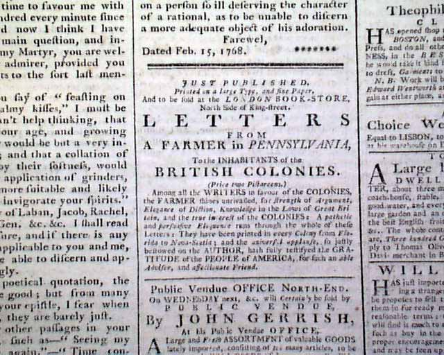 John Dickinson s famous Letters From A Farmer