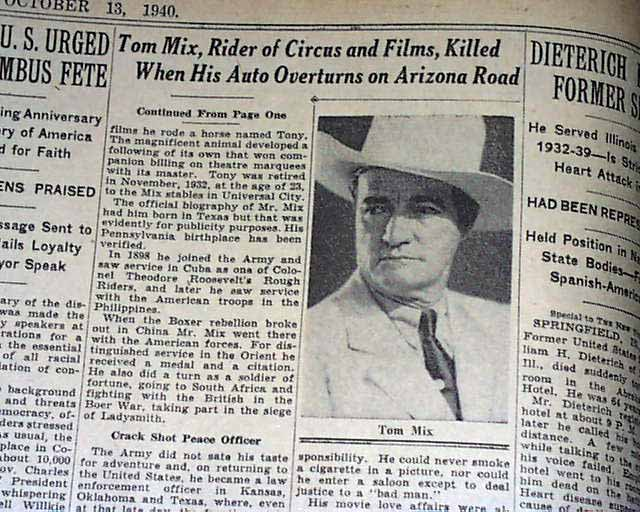Image result for the death of tom mix