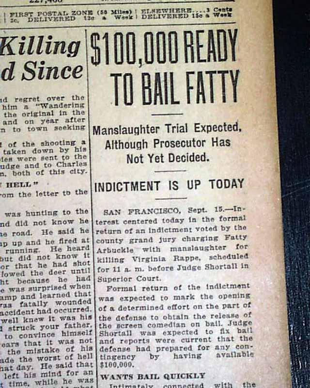 Fatty Arbuckle Virginia Rappe Murder