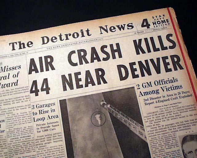 Flight 629 Longmont Co Crash Rarenewspapers Com