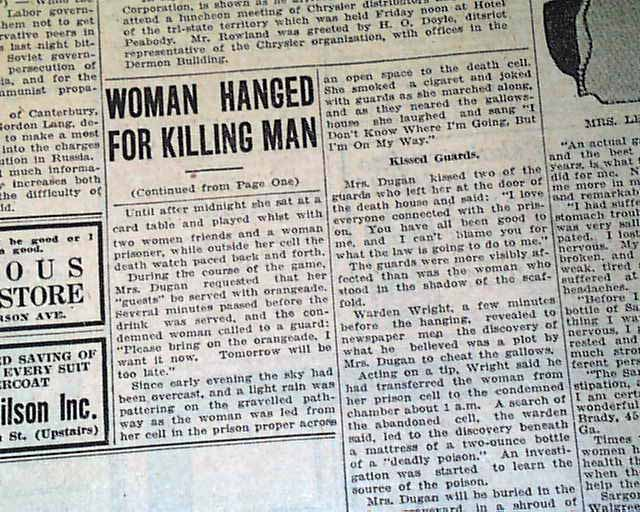 Eva Dugan hanging... first woman to be executed in Arizona ...