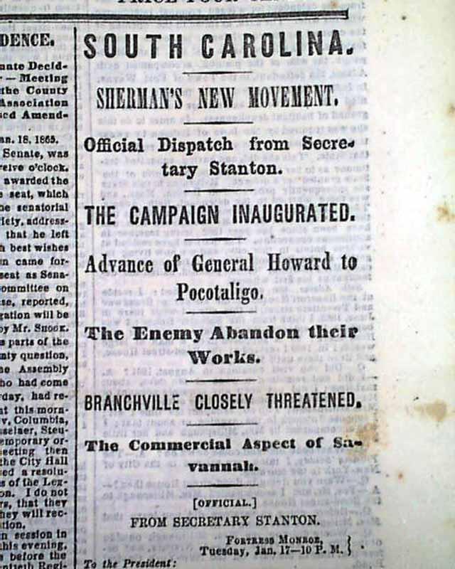 Gen Shermans 40 Acres For Freed Slaves Rarenewspapers