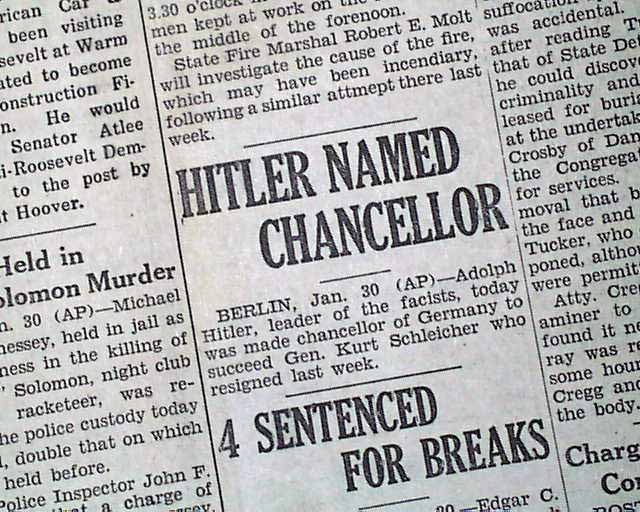 how did hitler become chancellor