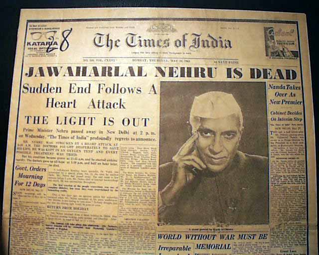 jawaharlal nehru date of birth and death