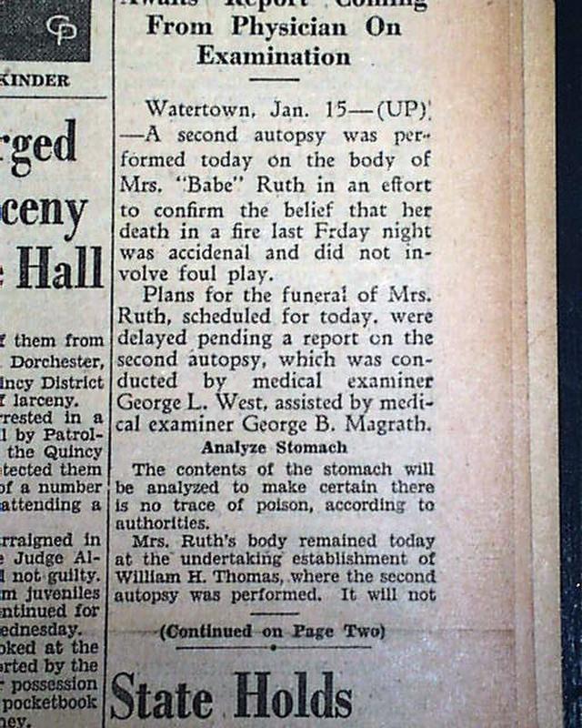 Babe ruth wife death-7946