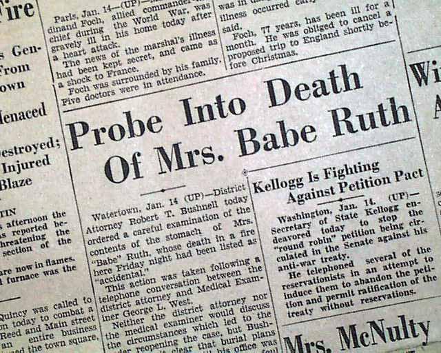Babe ruth wife death-4399