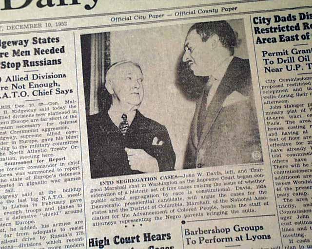 Brown Vs Board Of Education Rarenewspapers Com