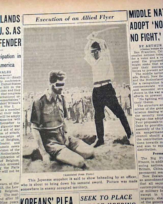 Details about LEONARD SIFFLEET Australian Commando Japanese Samurai  Execution PHOTO 1945 WWII