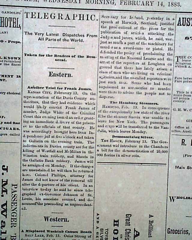 A newspaper from the ghost town of Austin, Nevada ...