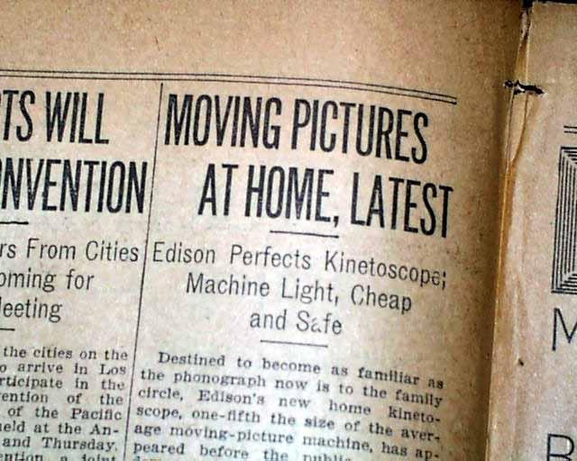 Edison's kinetoscope comes to the home    - RareNewspapers com