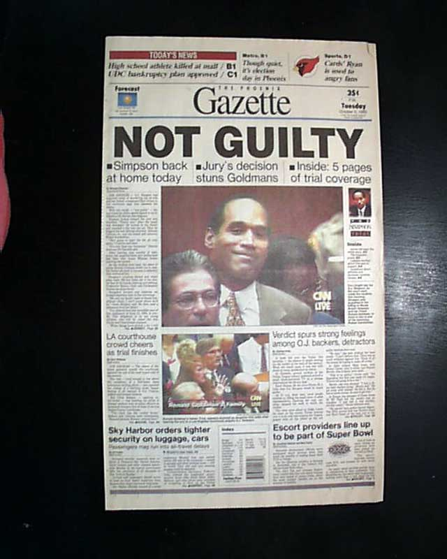 o j simpson not guilty