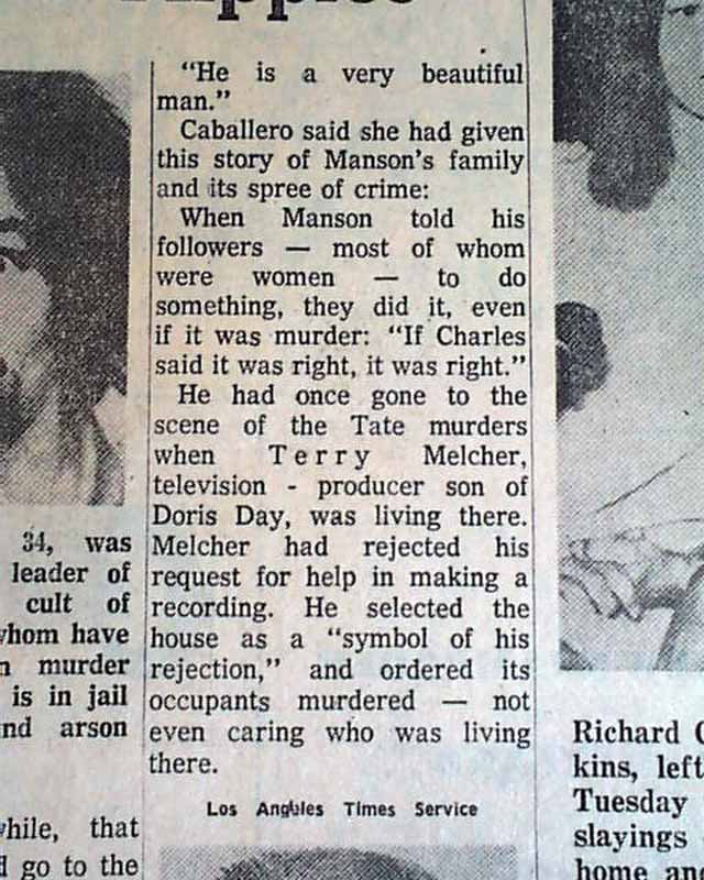 "an analysis of the charles manson murder spree Charles manson was born the support to katherine in the name of ""charles milles manson to the murder charges charles manson's is."