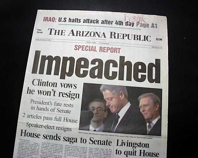 Image result for photos bill clinton in impeachment days