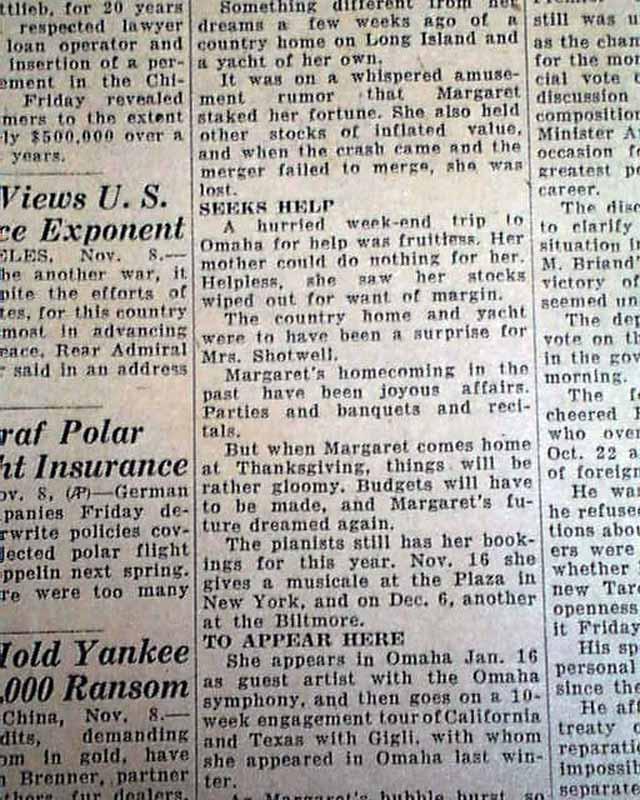 Post Stock Market Crash Of 1929...