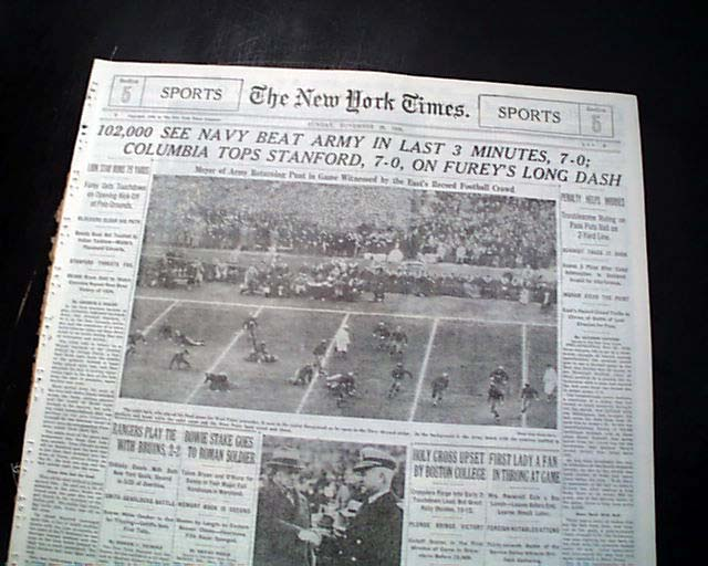 5e4921e7 ARMY-NAVY GAME College Football Rivalry West Point vs. Annapolis ...